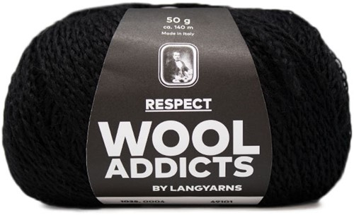 Lang Yarns Wooladdicts Respect 004 Black