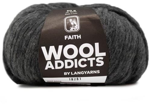Lang Yarns Wooladdicts Faith 005 Grey Mélange
