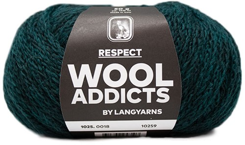 Lang Yarns Wooladdicts Respect 018 Moss Mélange