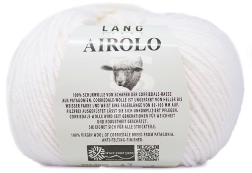 Lang Yarns Airolo 001 White