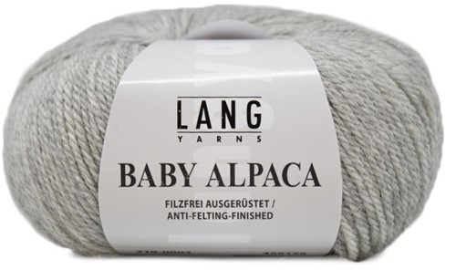 Lang Yarns Baby Alpaca 003 Light gray mélange
