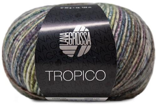 Lana Grossa Tropico 004 Blue / Lavendel / Grey-Green / Dark Jeans / Smaragd