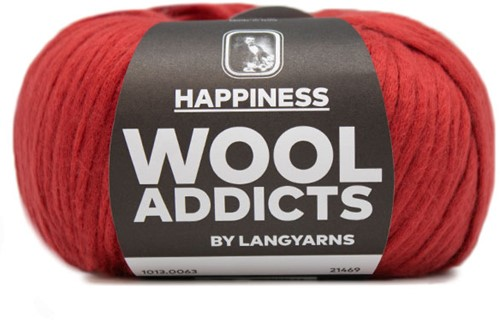 Wooladdicts Solid Stone Jacke Strickpaket 9 L Dark Red