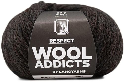 Lang Yarns Wooladdicts Respect 067 Dark Brown