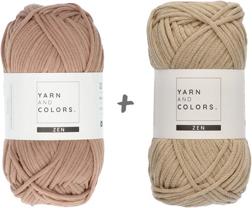 Yarn and Colors Slouchy Pouch Color Block Häkelpaket 006 Taupe
