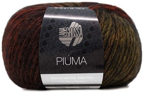 Lana Grossa Piuma 008 Camel / Olive / Nougat / Black