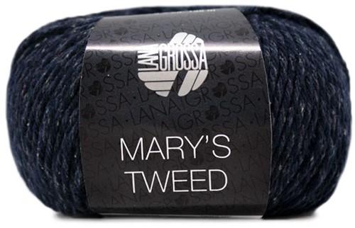 Lana Grossa Mary's Tweed 011 Night Blue Mottled