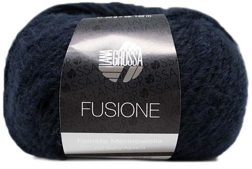 Lana Grossa Fusione 014 Marine / Black Mixed