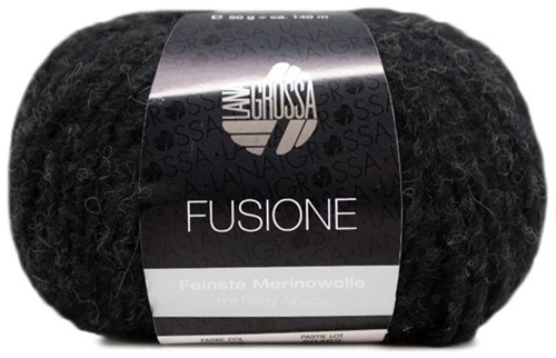 Lana Grossa Fusione 017 Black / Anthracite Mixed