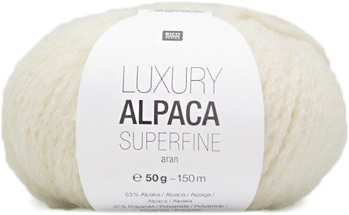 Rico Luxury Alpaca Superfine Aran 1 Cream
