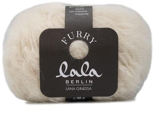 Lana Grossa Lala Berlin Furry 001 Raw White