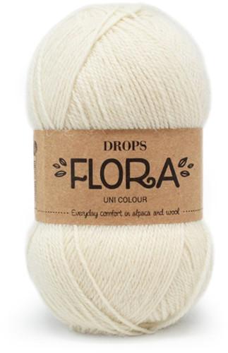 Drops Flora Uni Colour 01 Off White