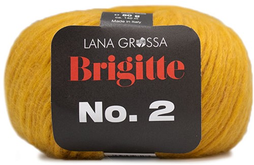 Lana Grossa Brigitte No.2 021 Corn Yellow