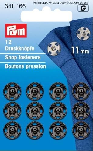 Prym Druckknöpfe schwarz 11mm