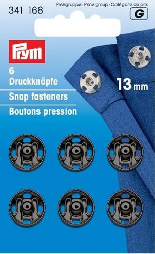 Prym Druckknöpfe schwarz 13mm