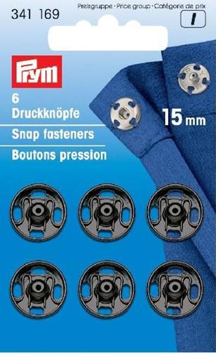 Prym Druckknöpfe schwarz 15mm