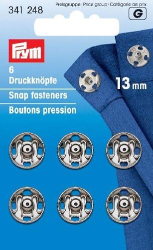 Prym Druckknöpfe silber 13mm