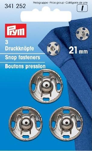 Prym Druckknöpfe silber 15mm