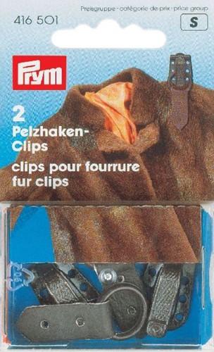 Prym Clips für Pelzjacken Braun