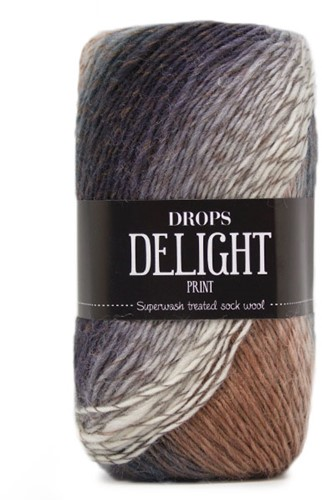 Drops Delight 02 Plym-beige-heather