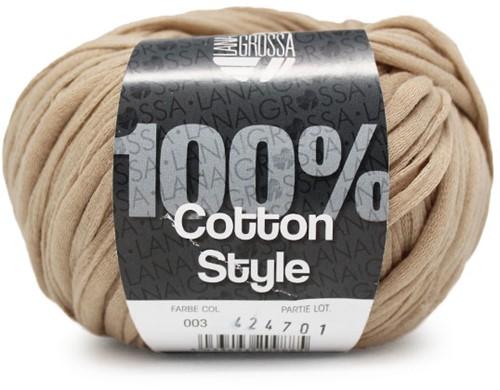 Lana Grossa Cotton Style 3 Camel