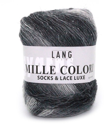 Lang Yarns Mille Colori Socks & Lace Luxe 03 Light Grey/Anthracite/Silver