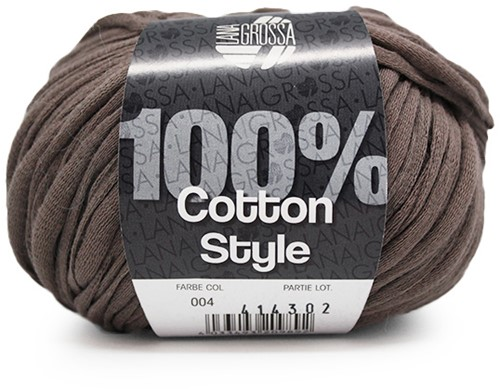 Lana Grossa Cotton Style 4 Grey/Brown
