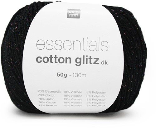 Rico Essentials Cotton Glitz DK 05 Black