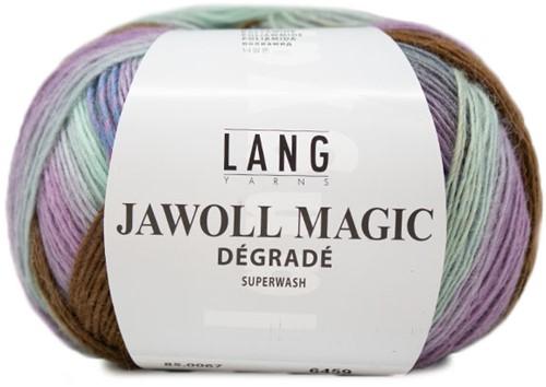 Lang Yarns Jawoll Magic Dégradé 067 Brown/grey/lilac