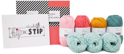 Yarn and Colors Colorful Scarf Häkelpaket 2