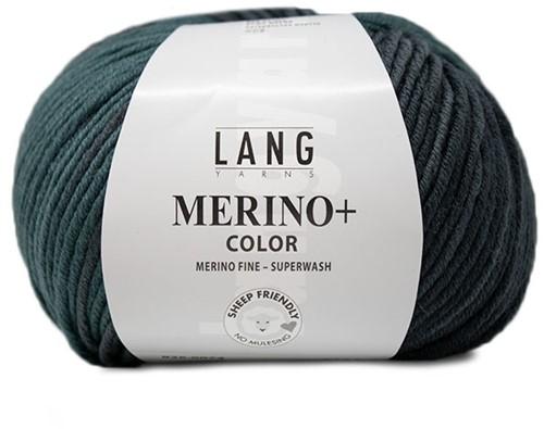 Lang Yarns Merino+ Color 074 Atlantic / Grey