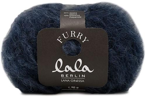Lana Grossa Lala Berlin Furry 008 Black Blue
