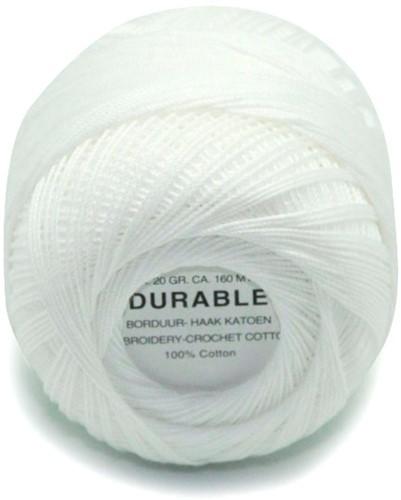 Durable Stick- und Häkelbaumwollgarn 1000 White