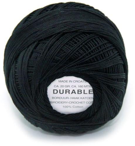 Durable Stick- und Häkelbaumwollgarn 1001 Black