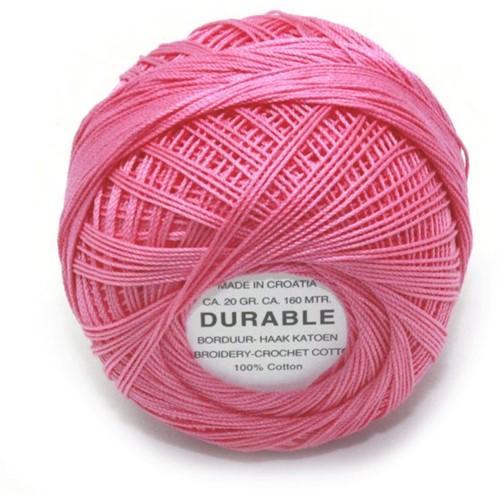 Durable Stick- und Häkelbaumwollgarn 1004 Pink