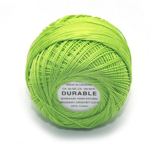 Durable Stick- und Häkelbaumwollgarn 1008 Grass Green