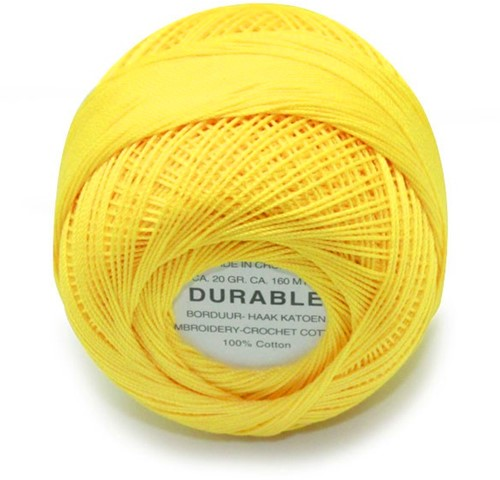 Durable Stick- und Häkelbaumwollgarn 1009 Yellow