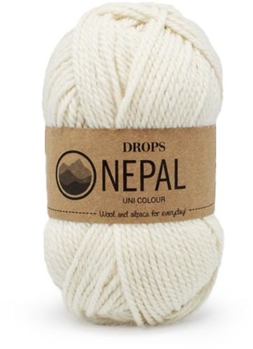 Drops Nepal Uni Colour 100 Natur
