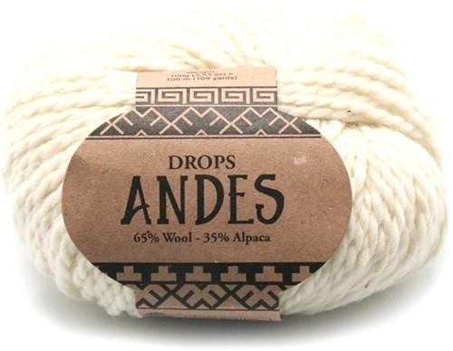 Drops Andes Uni Colour 100 Natur