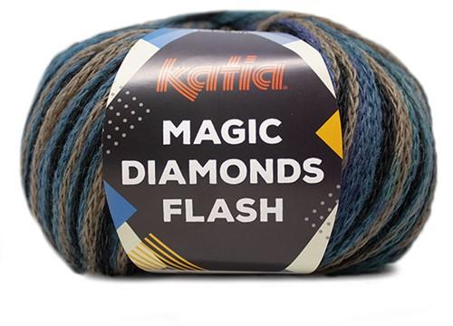Katia Magic Diamonds Flash 100 Beige-Black-Lilac-Green