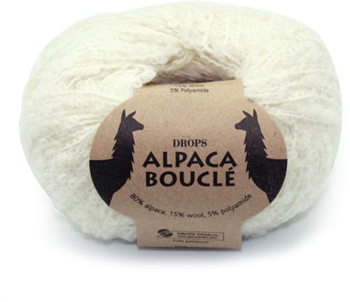 Drops Alpaca Bouclé Uni Colour 100 Natur