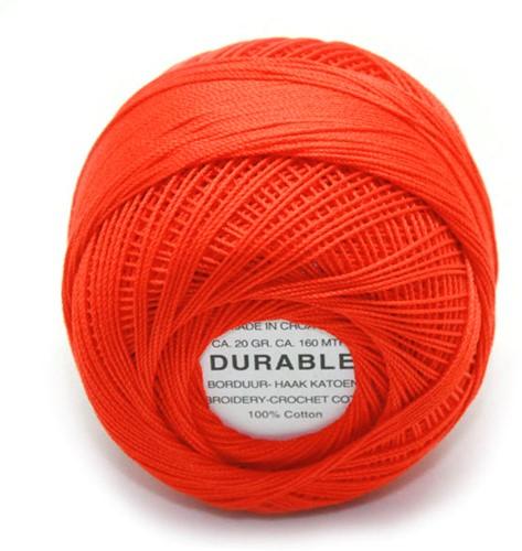 Durable Stick- und Häkelbaumwollgarn 1010 Dark Orange