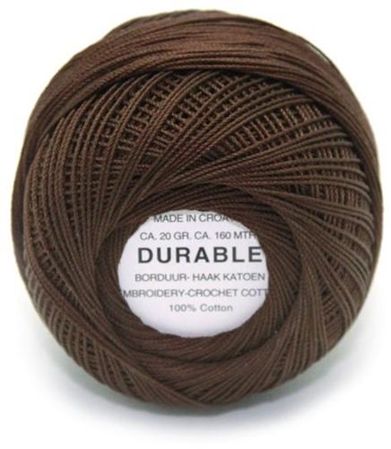 Durable Stick- und Häkelbaumwollgarn 1012 Dark Brown