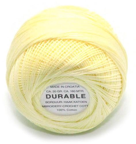 Durable Stick- und Häkelbaumwollgarn 1023 Light Yellow