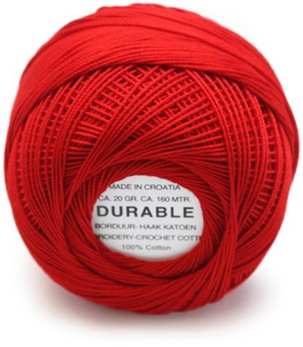 Durable Stick- und Häkelbaumwollgarn 1025 Red