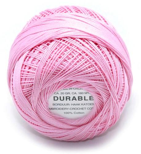 Durable Stick- und Häkelbaumwollgarn 1026 Candy Pink