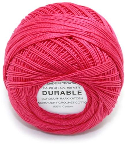 Durable Stick- und Häkelbaumwollgarn 1027 Raspberry