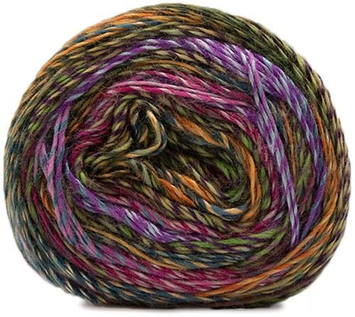 Lana Grossa Gioia 102 Purple / Light Blue / Olive / Gold / Dark Green / Red / Rose