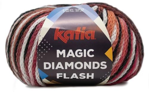 Katia Magic Diamonds Flash 103 Black-Off-white-Red-Green-Blue