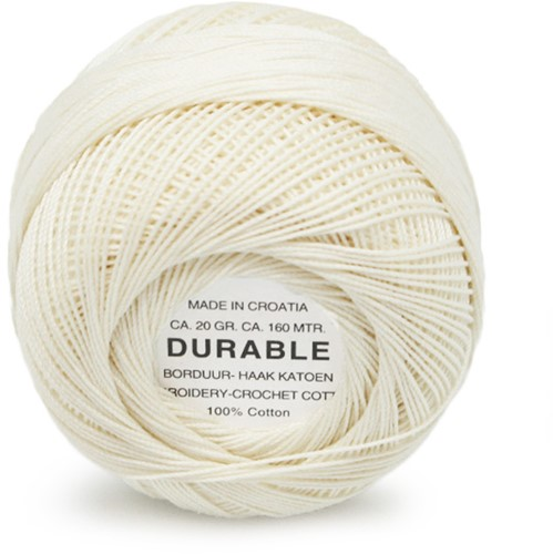 Durable Stick- und Häkelbaumwollgarn 1043 Cream